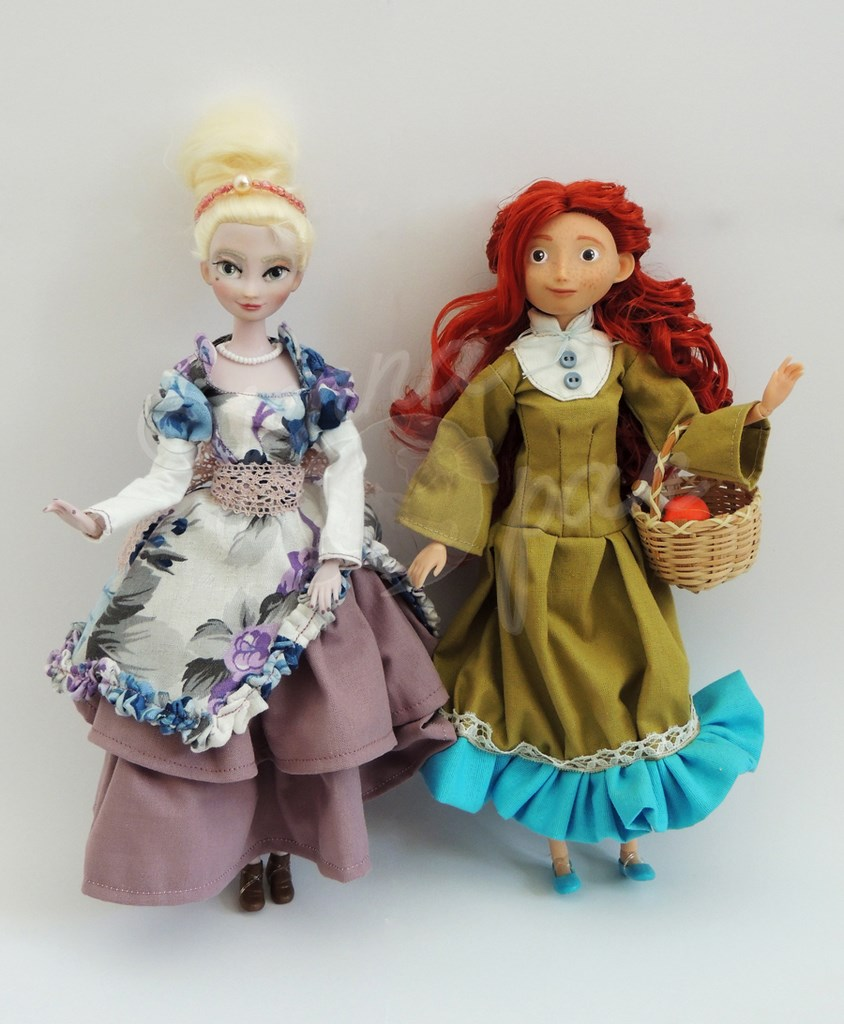 La servante, the maid and her mistress deux dolls customs Jenna Pan