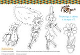 coloriage colour in cut out characters jenna pan n 2 personnages magiques poupée whimsical doll découper colorier