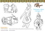 coloriage colour in cut out characters jenna pan n  personnages magiques poupée whimsical doll découper colorier 4