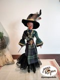 jenna pan dolls poupée création de personnages doll custom art artisanat diy fait main france harry potter mcgonagall professeur professor maggie smith witch wizard sorcier sorcière j k rowling tartan