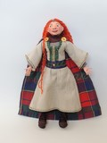 jenna pan handmade fait main doll poupée leana scottish princess princesse écossaise tartan one of a kind modèle unique glasgow scotland craft artisan art